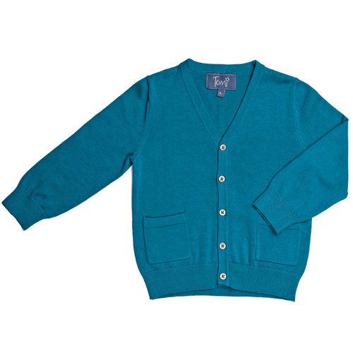 Teal Cardigan — Tomi Kids
