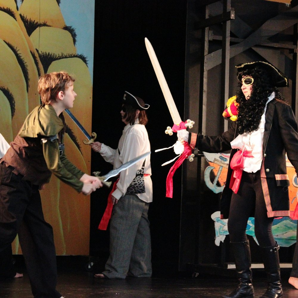 Acting is Fundamental - Peter Pan and Captain Hook face off in a Class Play, which are performed by every student from K-8 and help foster a culture of appreciation for all expression. Stage fright and public anxiety quickly become a thing of the past!
