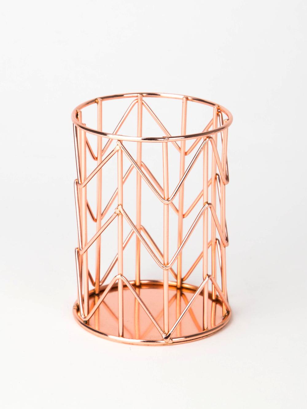 Hanging File Wire Basket Copper U Brands