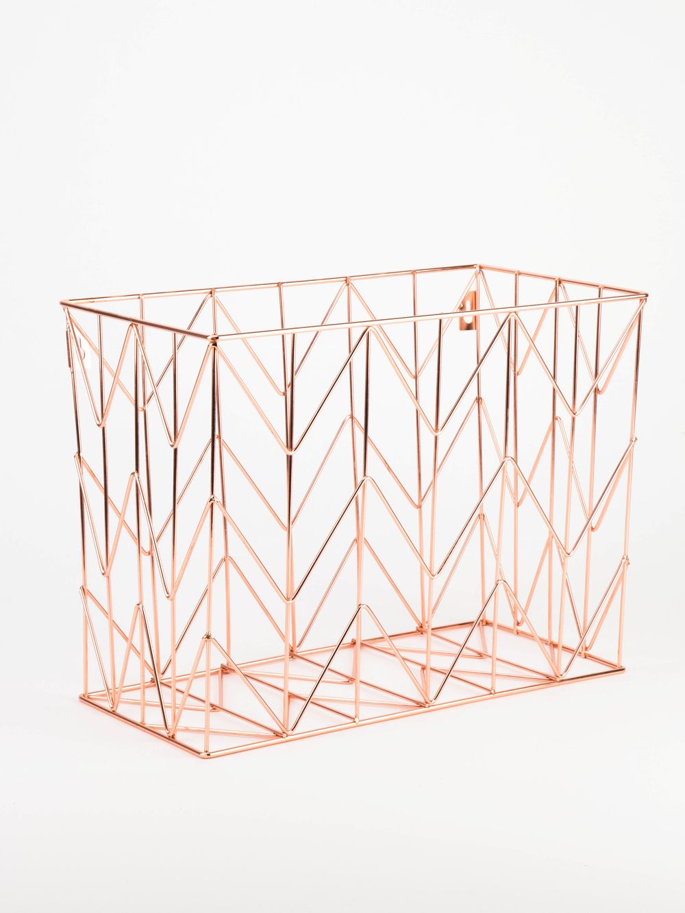 hanging file wire basket  copper  u2014 u brands