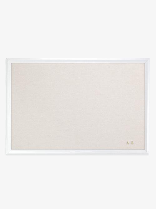 Linen Bulletin Board, White Wood Frame, 20\