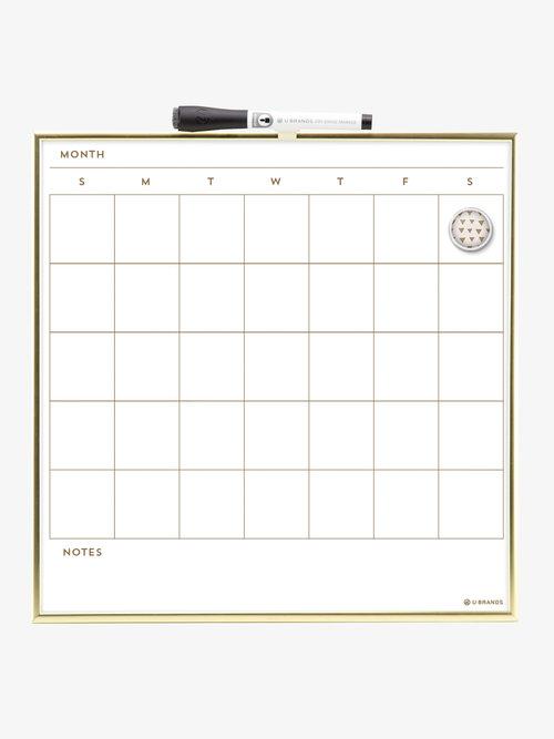 Magnetic Dry Erase Calendar Gold Frame 14 X 14 U Brands