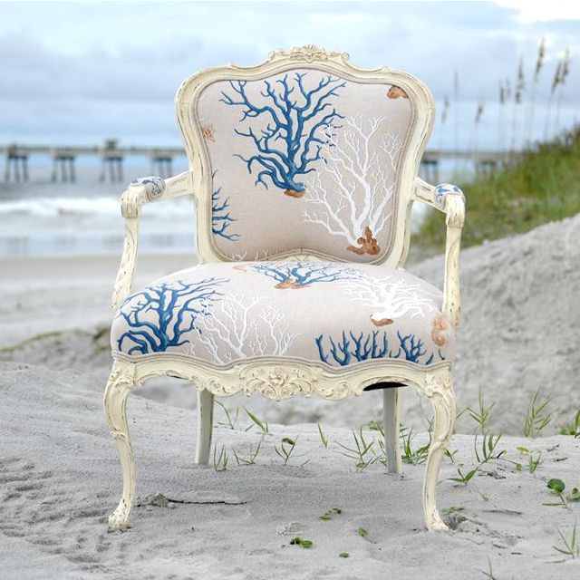 This Is A Perfect Mix Of Styles  French Chairs And The Beach. Donu0027t They Go  Great Together? The OCU (Obsessive Compulsive Upholsterer) In Me Is At  Peace ...
