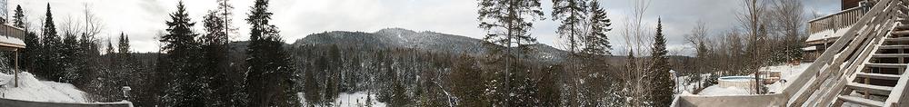 Domaine de la Rivière Perdu e    Vue hivernale •Winter view