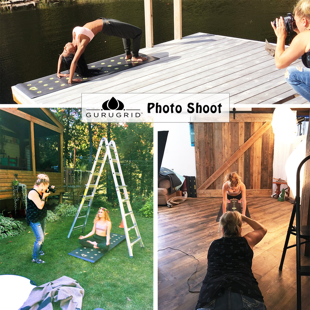 Here's some photos of me in action in some of the locations around my home studio!  This photo shoot for the  Gurugrid  was so fun!