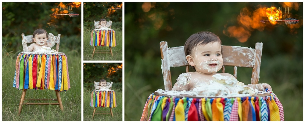 Katy TX Cake Smash Photography