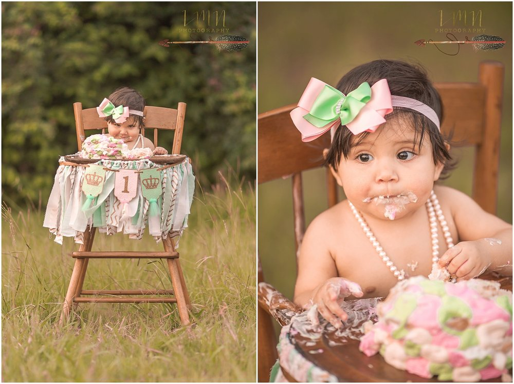 Spring TX Smash Cake Photography