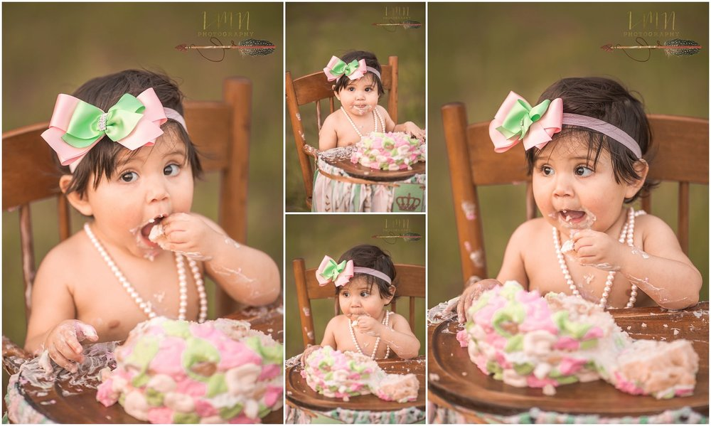 Spring TX Smash Cake Photographer