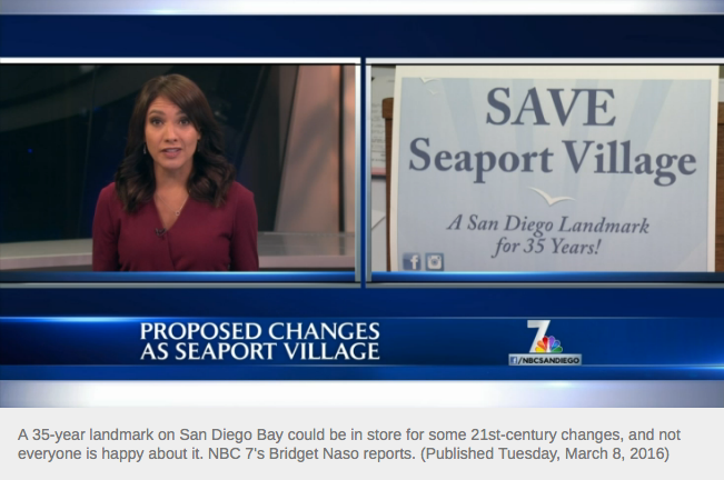 A group looking to preserve Seaport Village as it is spoke out at Tuesday's Port of San Diego Board of Commissioners meeting, hoping to sway officials from changing the popular tourist spot.  Seaport Village, a 35-year landmark, has been a prime sightseeing, shopping and dining destination for locals as well as tourists.