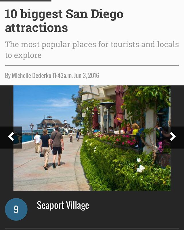 Awesome!!!! Seaport Village made the top 10 list of places to visit in San Diego😃 YaY! Thank you Discover SD!!! #seaportvillage #saveseaportvillage #california #discoversd #visitsandiego2016  @discoversd-Thank you!
