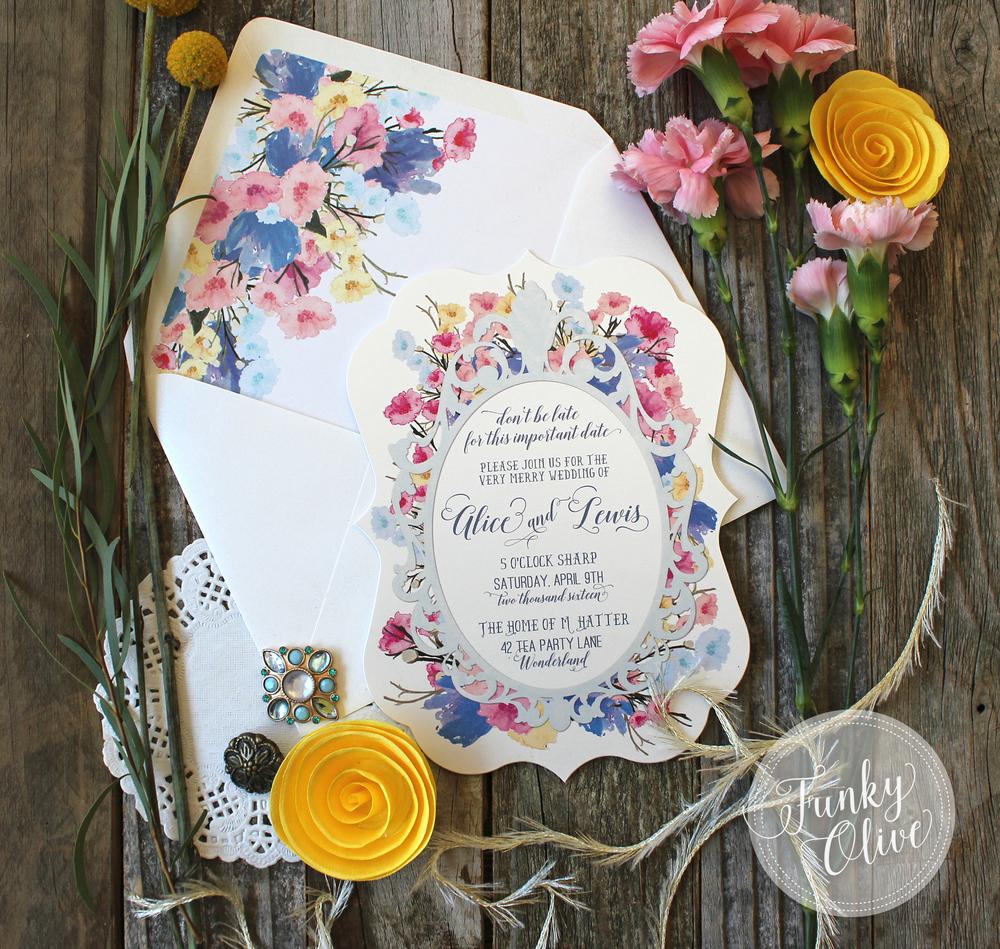 Follow Me Down The Rabbit Hole.... — Wedding Invitations + ...