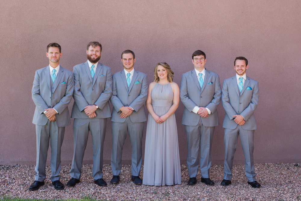 Everyone looks fabulous in grey formal wear.