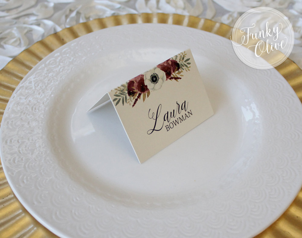BURGUNDY FLORAL TENT PLACE CARD 4.jpg