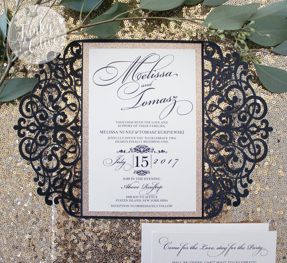 Finishing Touches — Wedding Invitations + Stationery - Funky Olive ...