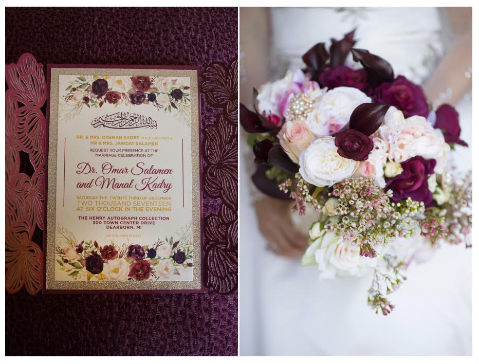 Check out their gorgeous invite, we love how it led to so much inspiration throughout the decor!