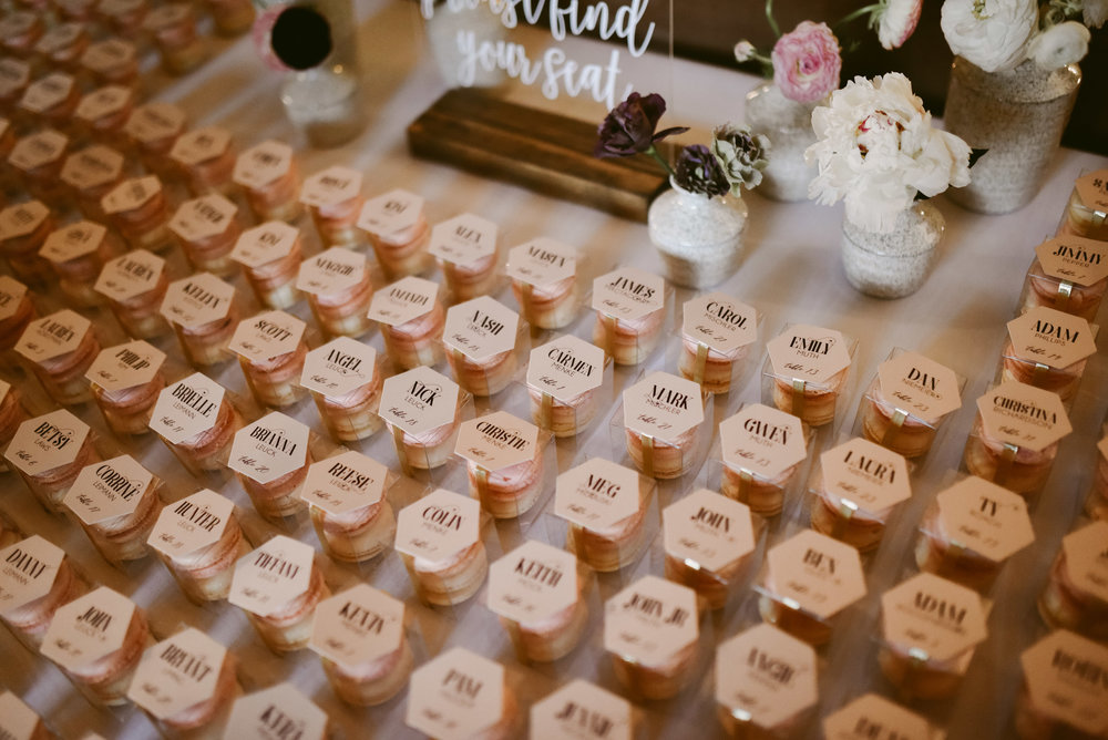 Pro Tip: Let your escort cards do double duty as favor tags!