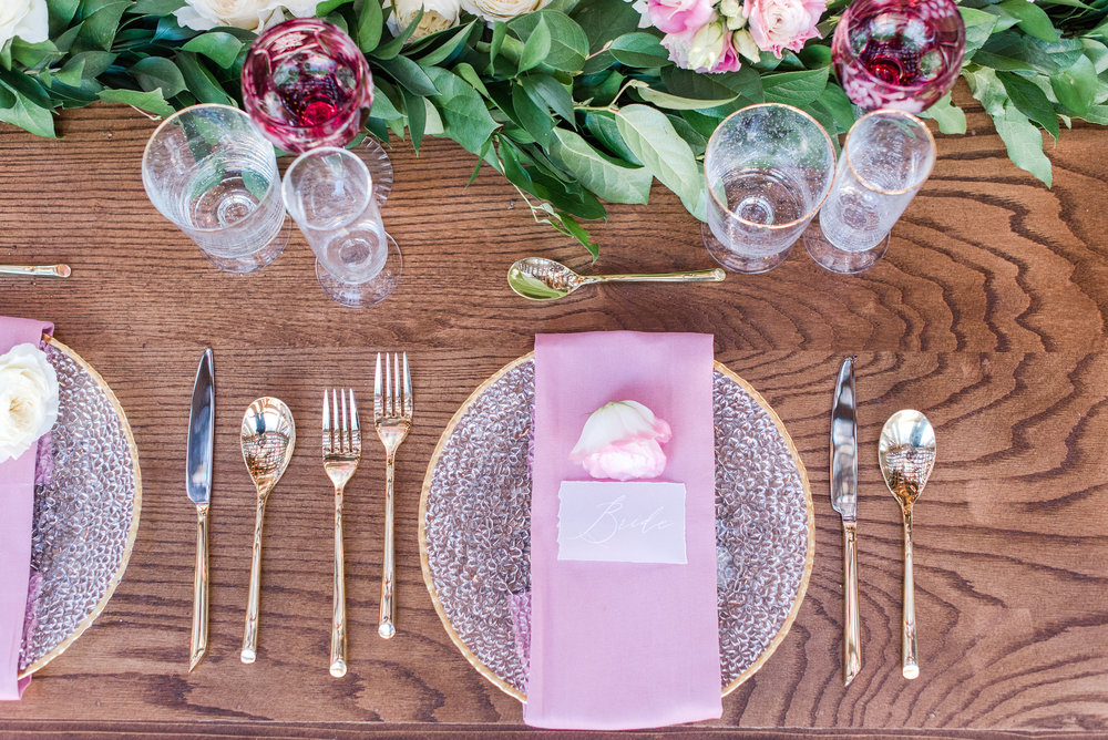 Our gorgeous white ink on vellum place cards at a styled shoot. Private residence. Planning, coordination and florals by the super talented Ashley of A Beautiful Theme Event Planning. http://abeautifultheme.com/wedding-planning/ Photo by    Maura Jane Photography   .