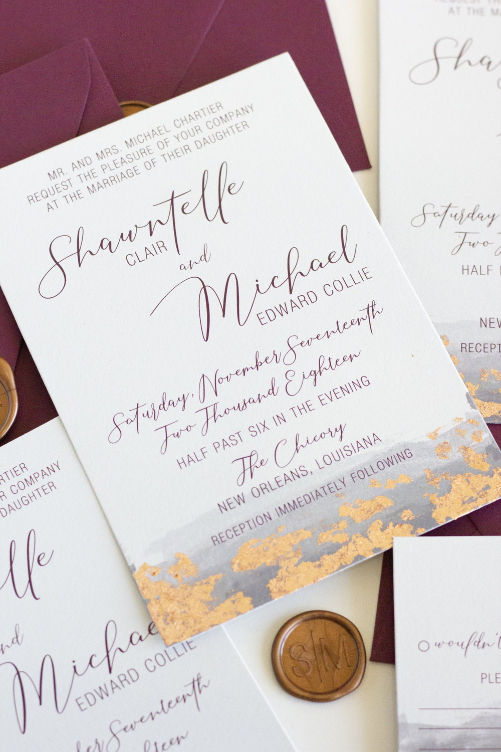 Hand Applied foil + flake - Elegant, luxe and oh-so chic.