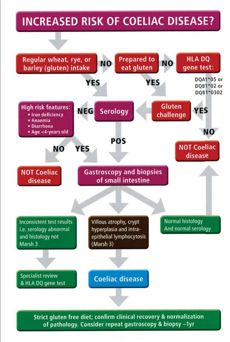 coeliac diagnostic card