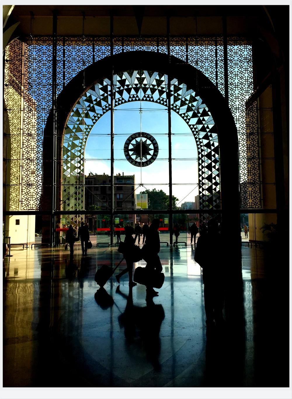 Railway Station, Marrakesh, Morocco, Africa | www.DoLessGetMoreDone.com |