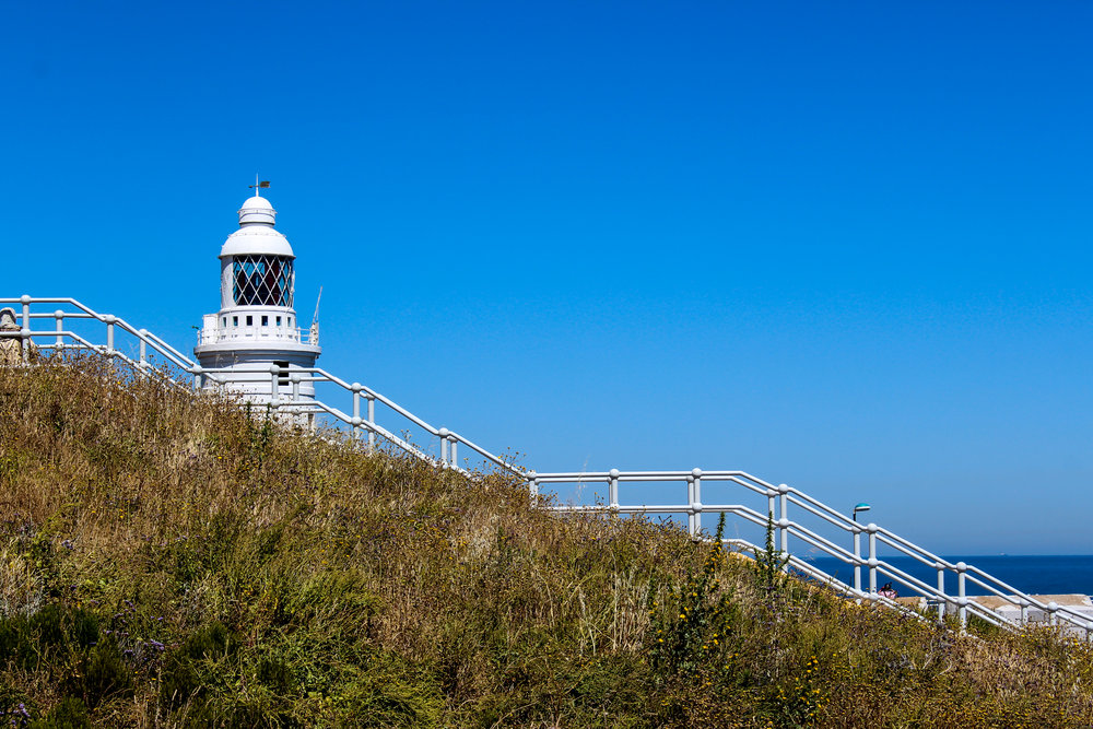Europa Point Lighthouse, Mediterranean Sea, Gibraltar, British Overseas Territory, Europe | www.DoLessGetMoreDone.com |
