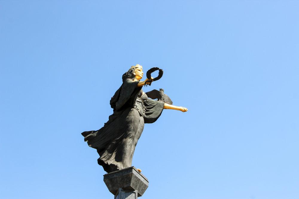 Statue of Sveta Sofia, Sofia, Bulgaria, Europe | DoLessGetMoreDone.com |