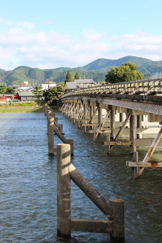 Togetsu-kyo Bridge, Katsura River,Arashiyama Mountain,Kyoto, Japan, East Asia | DoLessGetMoreDone.com |