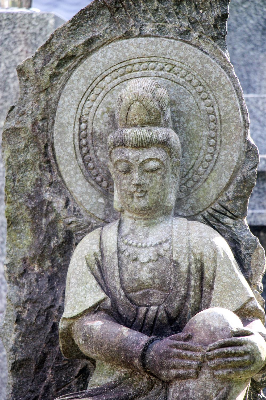 Jizo statue, Kyoto, Japan, East Asia | DoLessGetMoreDone.com |