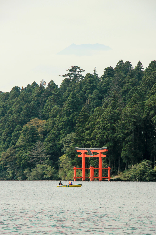 Hakone In A Simple Way Like That   Lake Ashi, Mount Fuji, Torii, Hakone   Fuji-Hakone-Izu National Park, Japan, Asia   DoLessGetMoreDone.com  