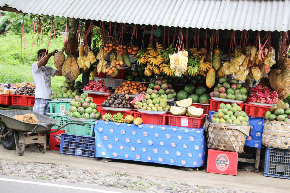 tropical fruits, Bali, Indonesia, Asia | DoLessGetMoreDone.com |