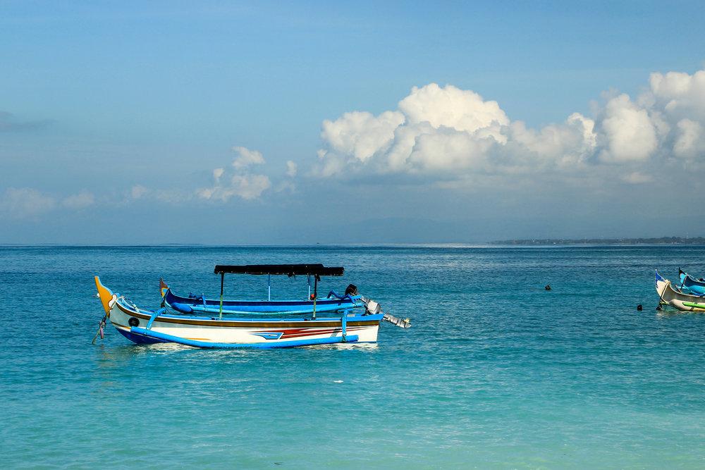 bali sea, fishing boat, Bali, Indonesia, Asia | DoLessGetMoreDone.com |