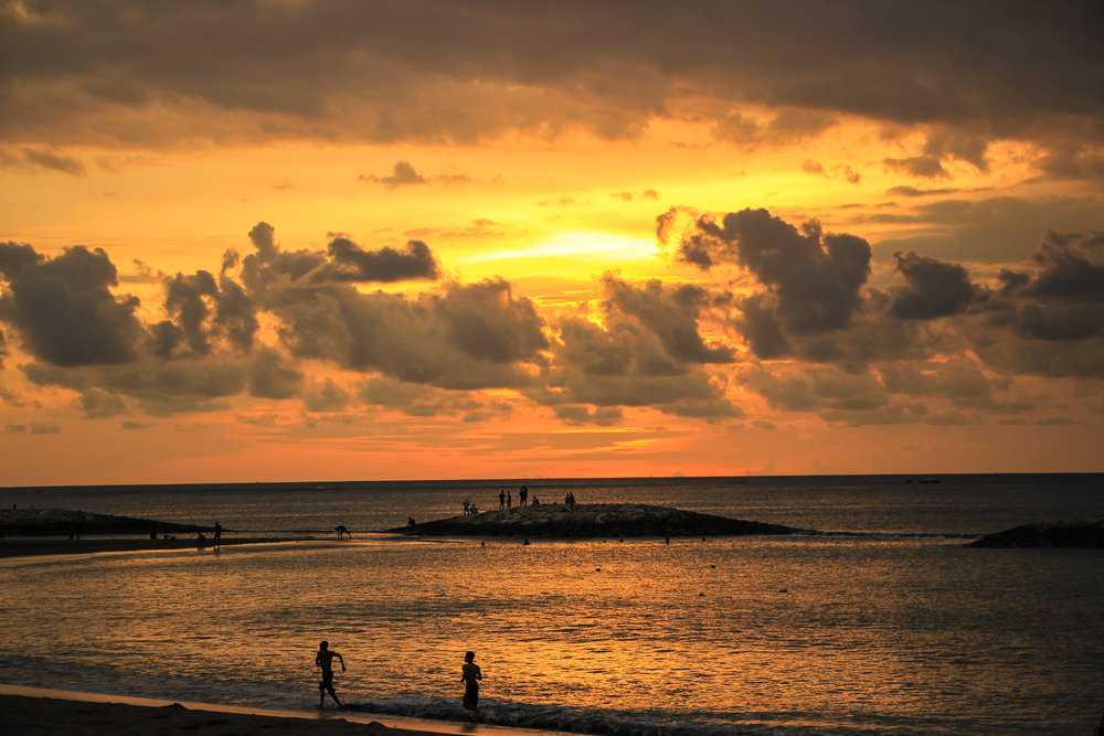 sunset, Sea, beach, island, people, Bali, Indonesia, Asia | DoLessGetMoreDone.com |