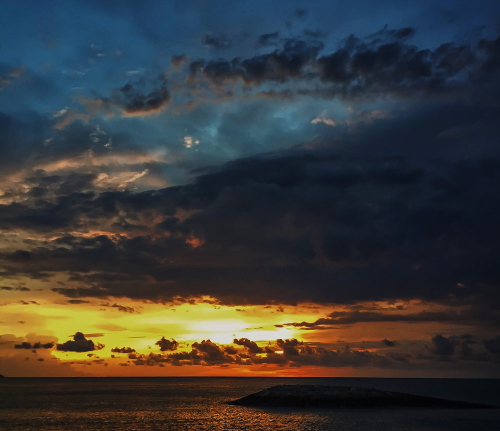 sunset, sky, clouds, sea, Bali, Indonesia, Asia | DoLessGetMoreDone.com |