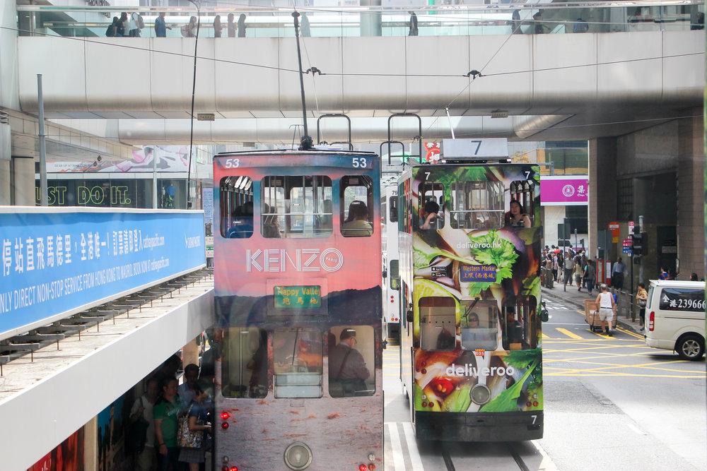 Hong Kong, Hong Kong Island, public transport, tram, people, street photography,Asia | DoLessGetMoreDone.com |