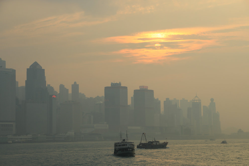 HONG KONG, HONG KONG ISLAND, SOUTH CHINA SEA, people, sunset, ASIA | DOLESSGETMOREDONE.COM |