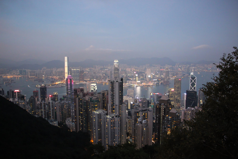 HONG KONG, HONG KONG ISLAND, kowloon, SOUTH CHINA SEA, VICTORIA PEAK, SUNSET, ASIA | DOLESSGETMOREDONE.COM |