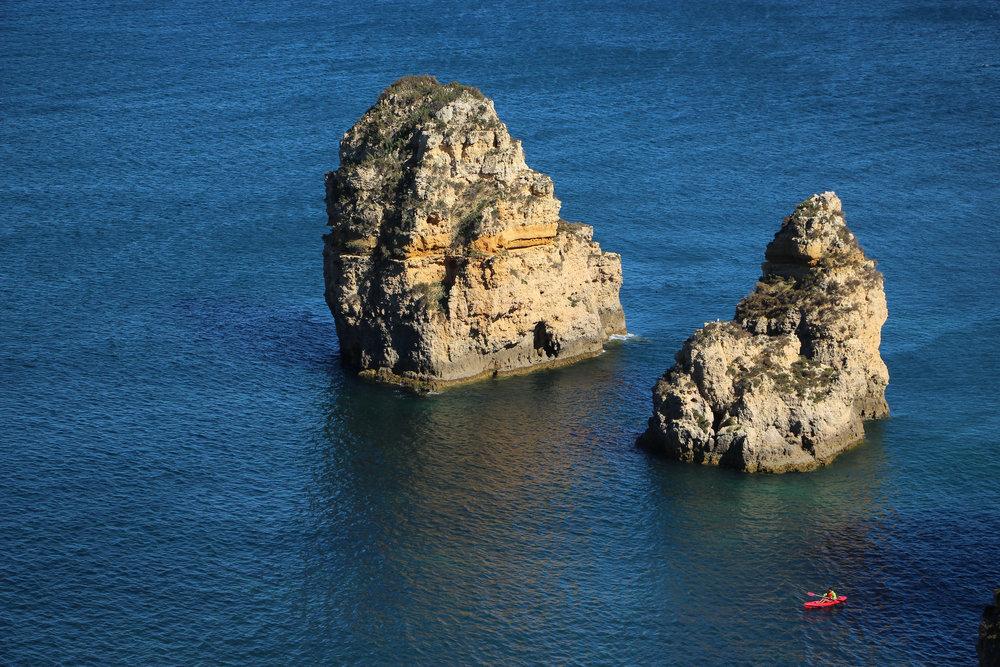 Praia Dona Ana, Portugal, Europe | DoLessGetMoreDone.com | What can we do to make it better?