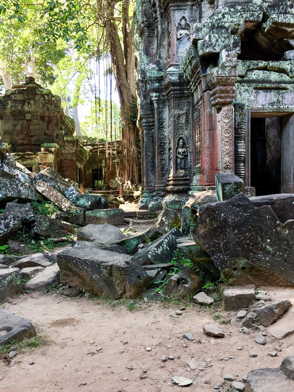 One Moment At A Time   Banteay Kdei, Angkor, Siem Reap, Cambodia, Asia   DoLessGetMoreDone.com  