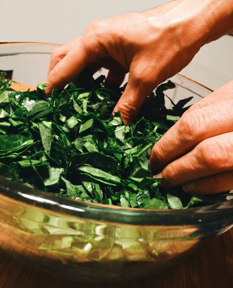 FarmDaddy Raw Collard Green Salad 1