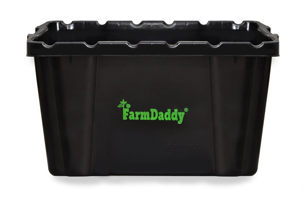 farmdaddy self watering garden container black garden self watering containers farmdaddy. Black Bedroom Furniture Sets. Home Design Ideas