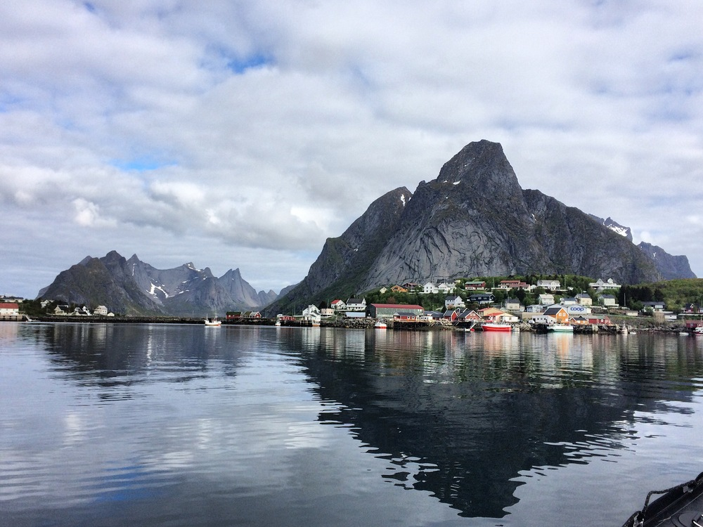 The iconic mountain Reinebringen above the fishing village of Reine, voted prettiest village in the world back in the 1970s. It's still true, I'd say.