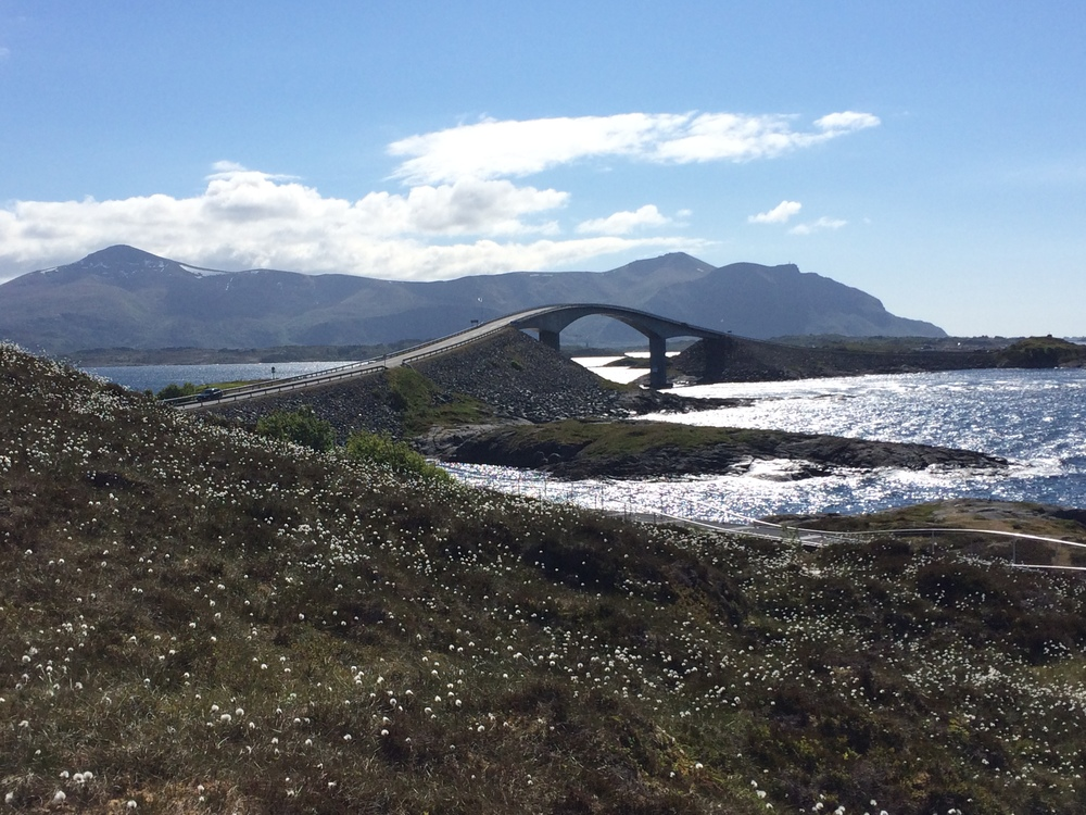 A crazy bridge on the famous Atlantic Road, which connects various islands to the mainland.