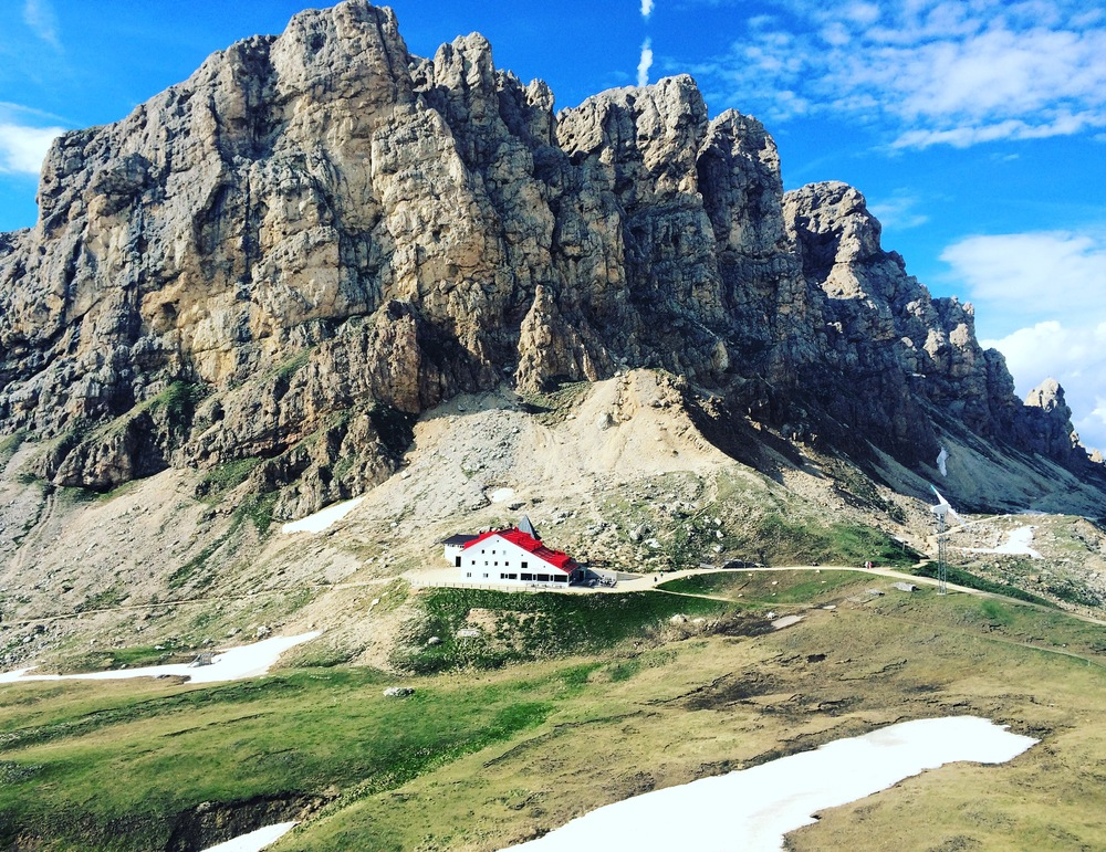 My favorite hut in the Dolomites, the Refugio Alpe die Tieres.