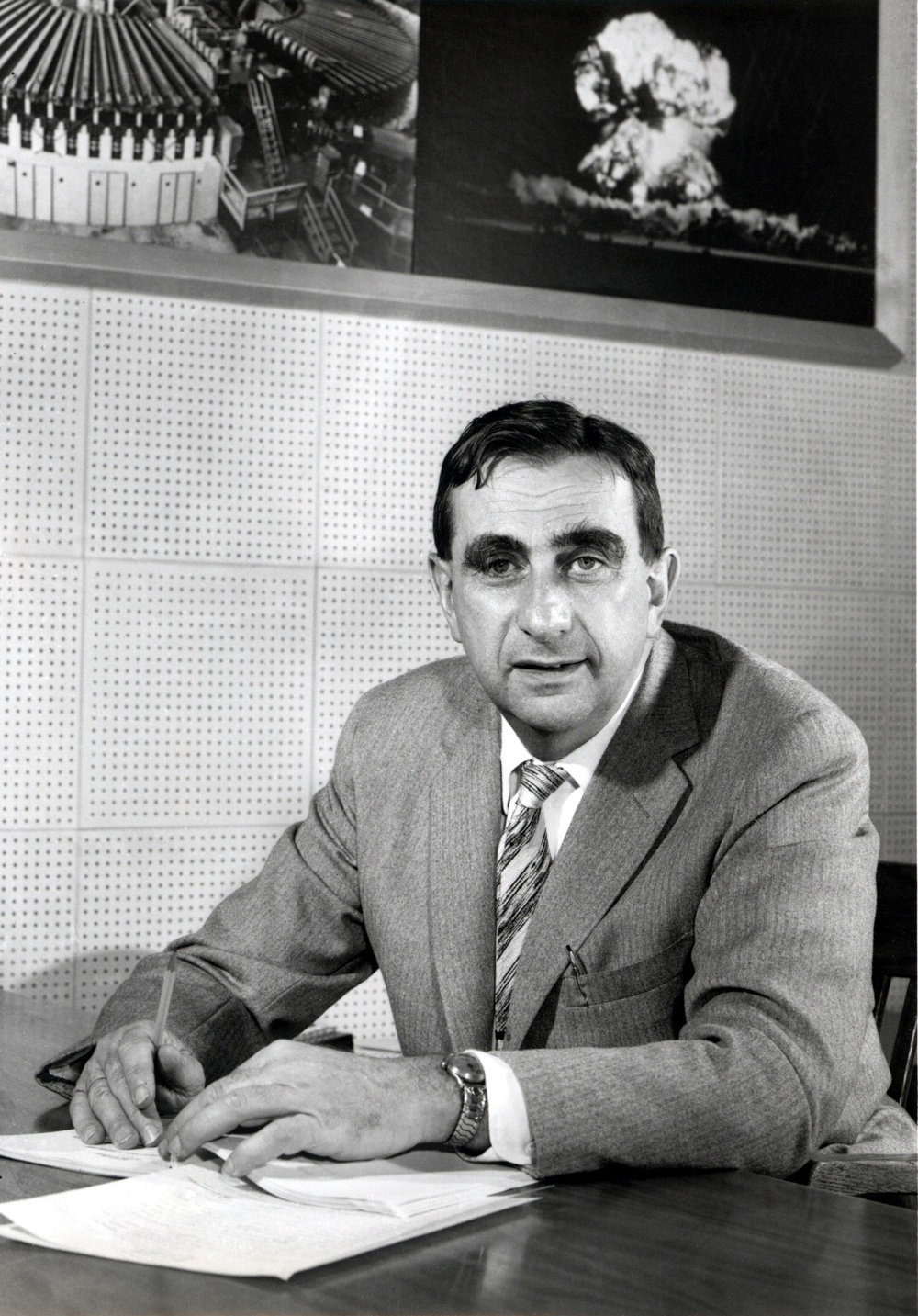 Figure 2. Edward Teller in 1958 during his directorship of Lawrence Livermore National Laboratory, soon after the approval of Project Plowshare.