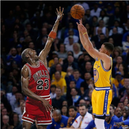 Curry or Jordan - Who will be the greatest?Photo Credit: Sneaker bar detroit