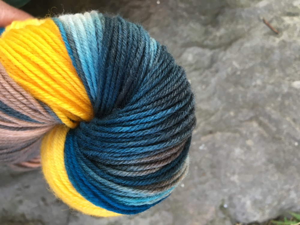 Knit some warmth with  Unicorn Sunshine RR Sock Yarn !