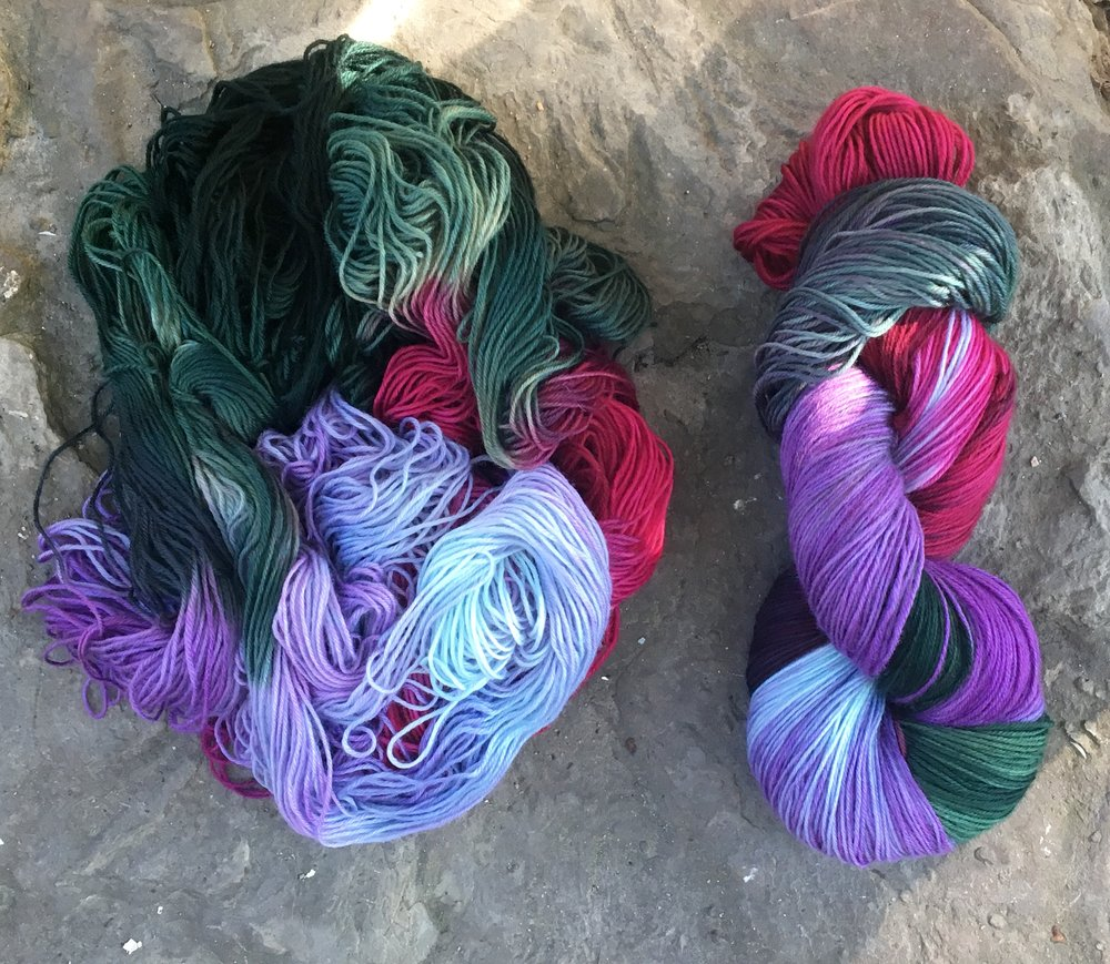 This is your yarn ... what will your shawl look like?
