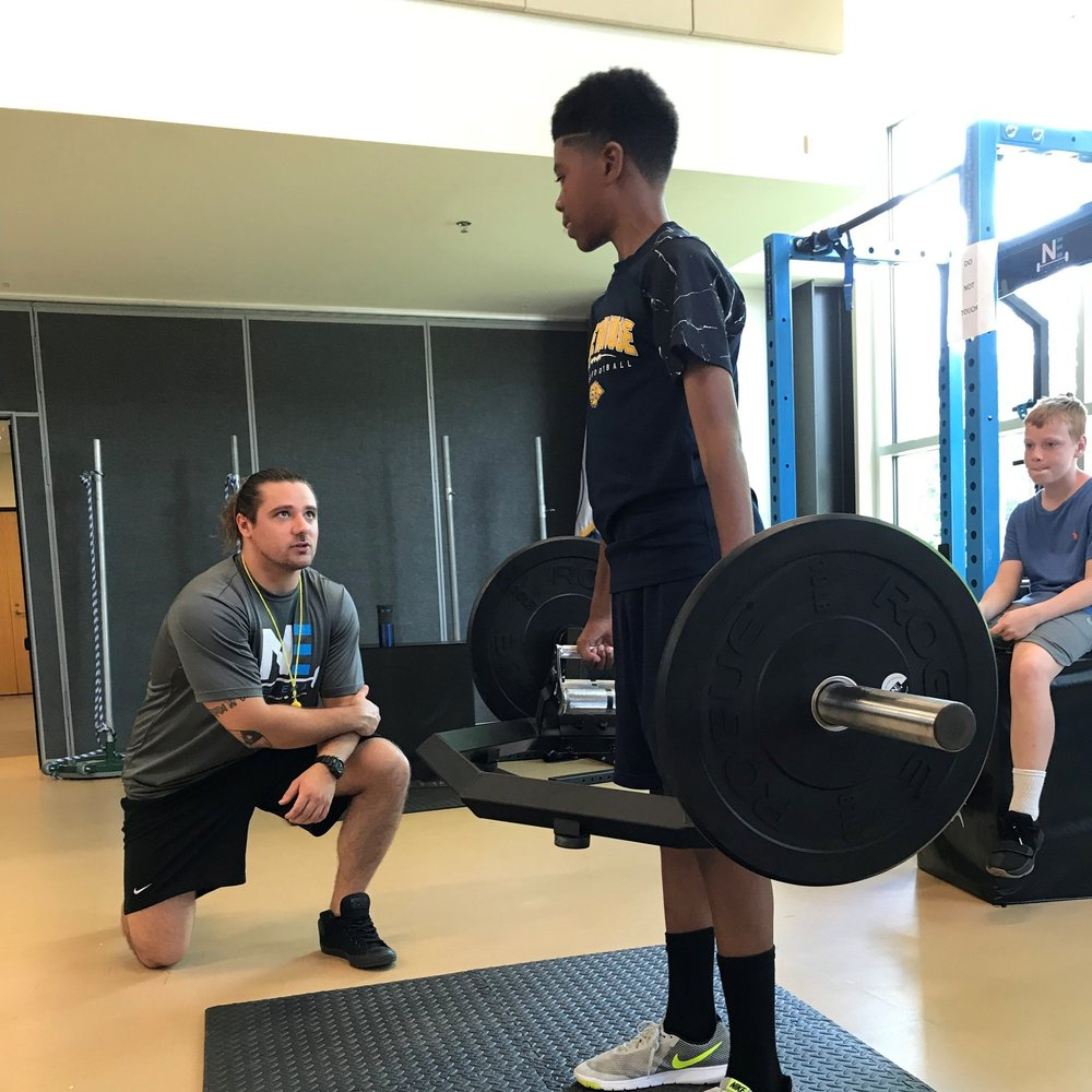 16- 18 YEARS OLD - MONDAY - FRIDAY, 9AM - 12PM1) Decrease the risk of sport-related injuries2) Execute varsity level strength & conditioning exercises3) Enhance speed, agility, and quickness skills