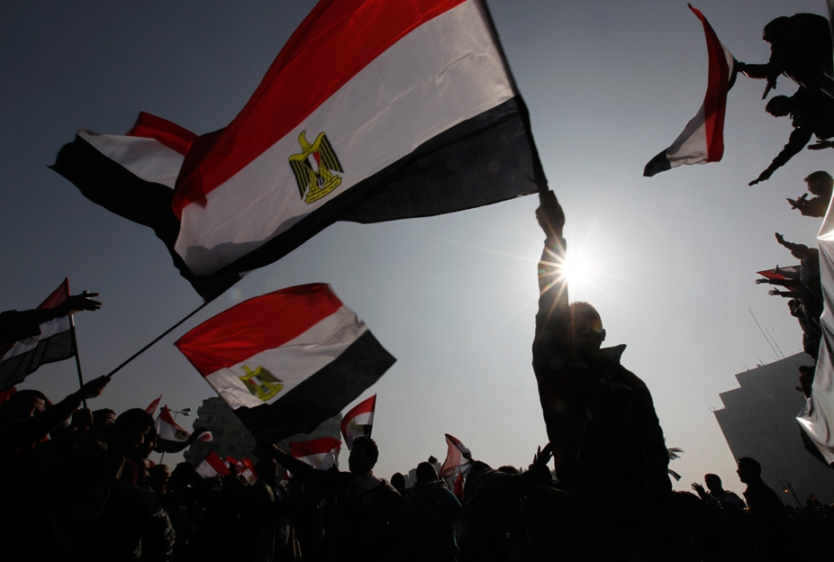 Protesters marked the first anniversary of Egypt's 2012 uprising at Tahrir square in Cairo. Photo via euronews.com