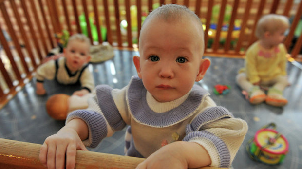 Children in a Russian orphanage. The country has banned all US citizens from adopting Russian children. Photo via redstate.com
